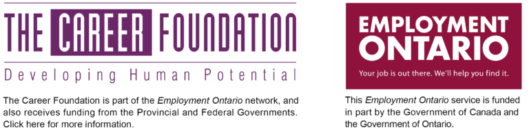 The Career Foundation and Employment Ontario logos